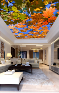 3D Maple Leaves 499 Ceiling Wall Paper Print Wall Indoor Wall Murals CA Carly