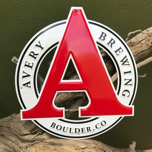 Avery Brewing Co Logo Tin Tacker Metal Beer Sign