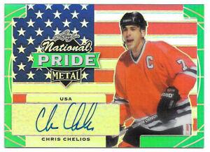 2016-17-Chris-Chelios-Leaf-Metal-National-Pride-Auto-Green-1-3-Blackhawks