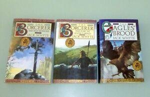 3 Books SIGNED by Jack Whyte SORCERER FORT RIVER BEND METAMORPHOSIS DREAM EAGLES