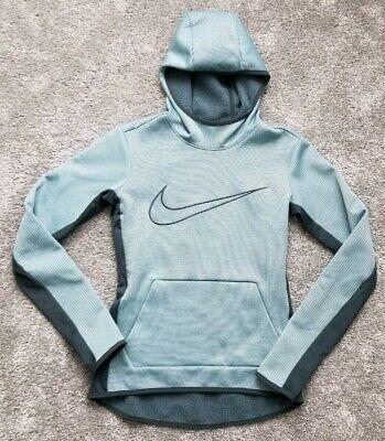 Womens NIKE Dri FIT Slim Green Striped Hooded Sweatshirt Small S | eBay
