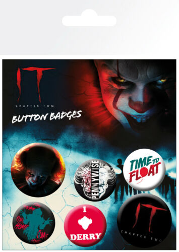 IT Chapter 2 Pennywise Horror Movies 6 Pin Assorted Badges Trendy Badge Pack