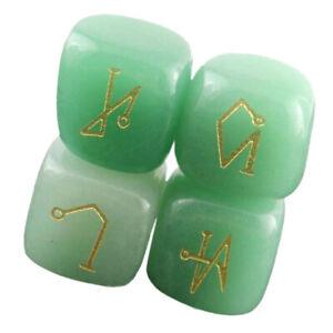 4X Natural Quartz Crystal Engraved Angel Symbols Set Energy Protect Stone #7