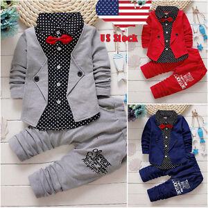 2pcs-Toddler-Baby-Boys-Kids-Shirt-Tops-Long-Pants-Clothes-Outfits-Gentleman-Set