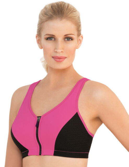 4589c241181 Zipper SPORTS Bra High-Impact BOUNCE CONTROL WireFREE Pink NEW  54 ~DO  MEASURE!