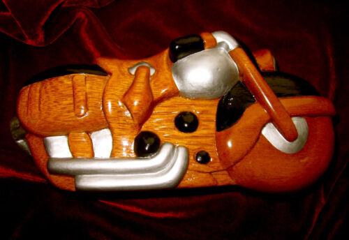 Woods Minaudiere Timmy Bg Handgesneden houten koppeling schouder Authentieke motorfiets Ok08XnwP