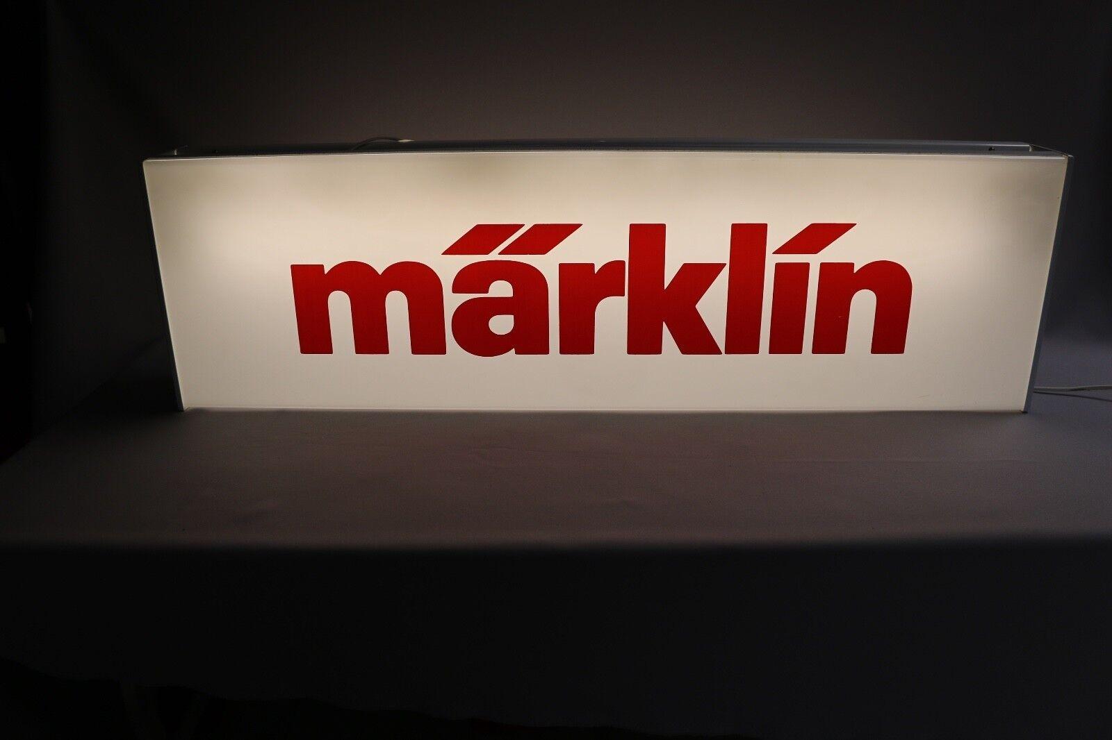 ZC035 Enseigne Marklin taille XXL magasin train eclairé néon 102*30*12cm