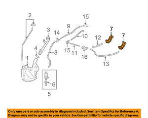 Acura Honda Oem 09 14 Tl Windshield Wiper Washer Nozzle Spray Jet 76810tk4a11 Ebay