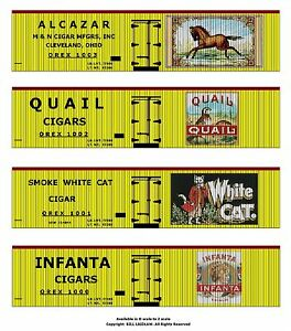 Tobacco-Road-all-36-boxcars-O-scale-printed-reefer-sides