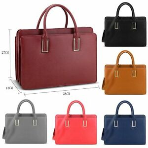 Image Is Loading Las Lydc Designer Faux Leather Briefcase Work Bag