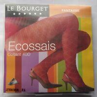 Superbe Collant Le Bourget Ecossais Noir/violet -40 Deniers