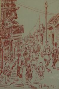Roetelzeichnung-China-Reise-Auguste-Reissmueller-1869-1958-Muenchen