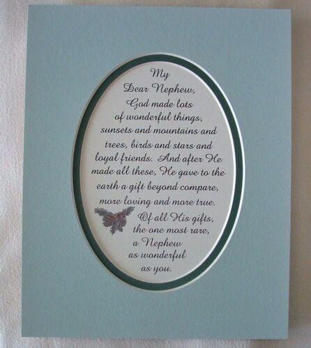 Neveu Loyal dieu fait amis de la Famille Amour Cadeau Spécial RARE versets poèmes plaques