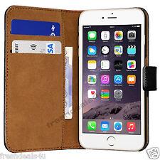 Nero lusso Genuine vera pelle Case Flip Portafoglio Cover Per Apple iPhone 7 Plus