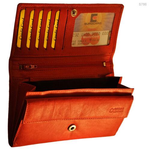XXL Geldbörse mit RFID Schutz Rindleder Portemonnaie Geldbeutel Geldtasche Damen