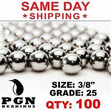 100 Qty 38 Inch G25 Precision Chrome Steel Bearing Balls Chromium Aisi 52100