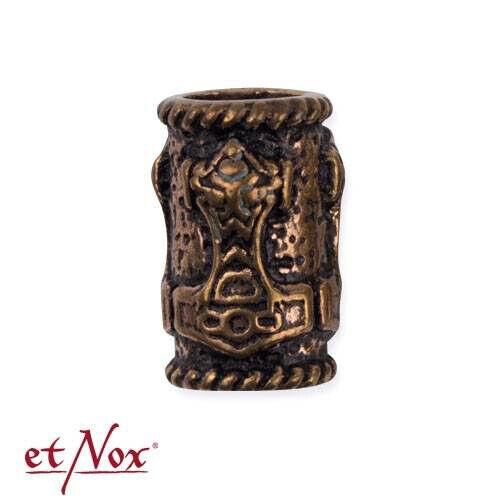 Bartperle  Thors Hammer  Bronze  Bartschmuck Vikings Wikinger Dreadschmuck etNox