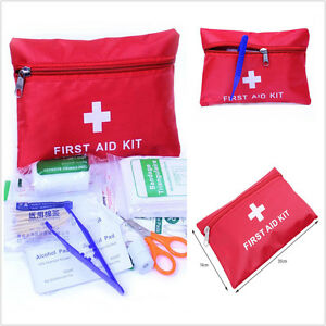 38 pc first aid kit emergency bag home car outdoor. Black Bedroom Furniture Sets. Home Design Ideas