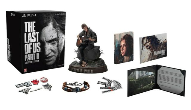 THE LAST OF US PART 2 COLLECTORS EDITION PLAYSTATION 4 WITH ELLIE STATUE