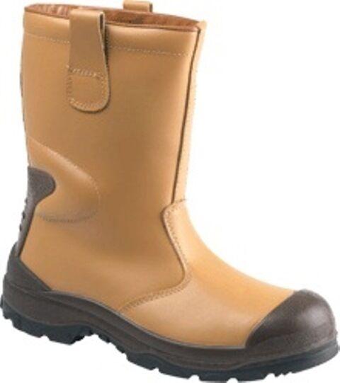 GLOBETROTTERS lh313smbn S3 Uomo TAN Pelliccia Con Cappuccio rugosità Rigger Stivali Stivali di sicurezza