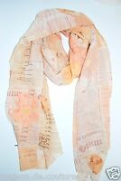"""NWT AUTHEN JOHN GALLIANO 100% SILK MULTICOLOR HUGE 26"""" x 69"""" SCARF MADE IN ITALY"""