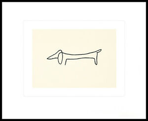 pablo picasso hund poster kunstdruck siebdruck mit alu. Black Bedroom Furniture Sets. Home Design Ideas