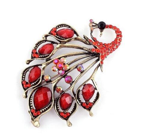 luxuriös Vintage Stil Pfau Design Fantastische Elegant Geschenk Brosche