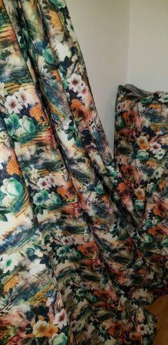 """1m  Designer floral  multi color Dress Scuba strech  Fabric 58/"""""""