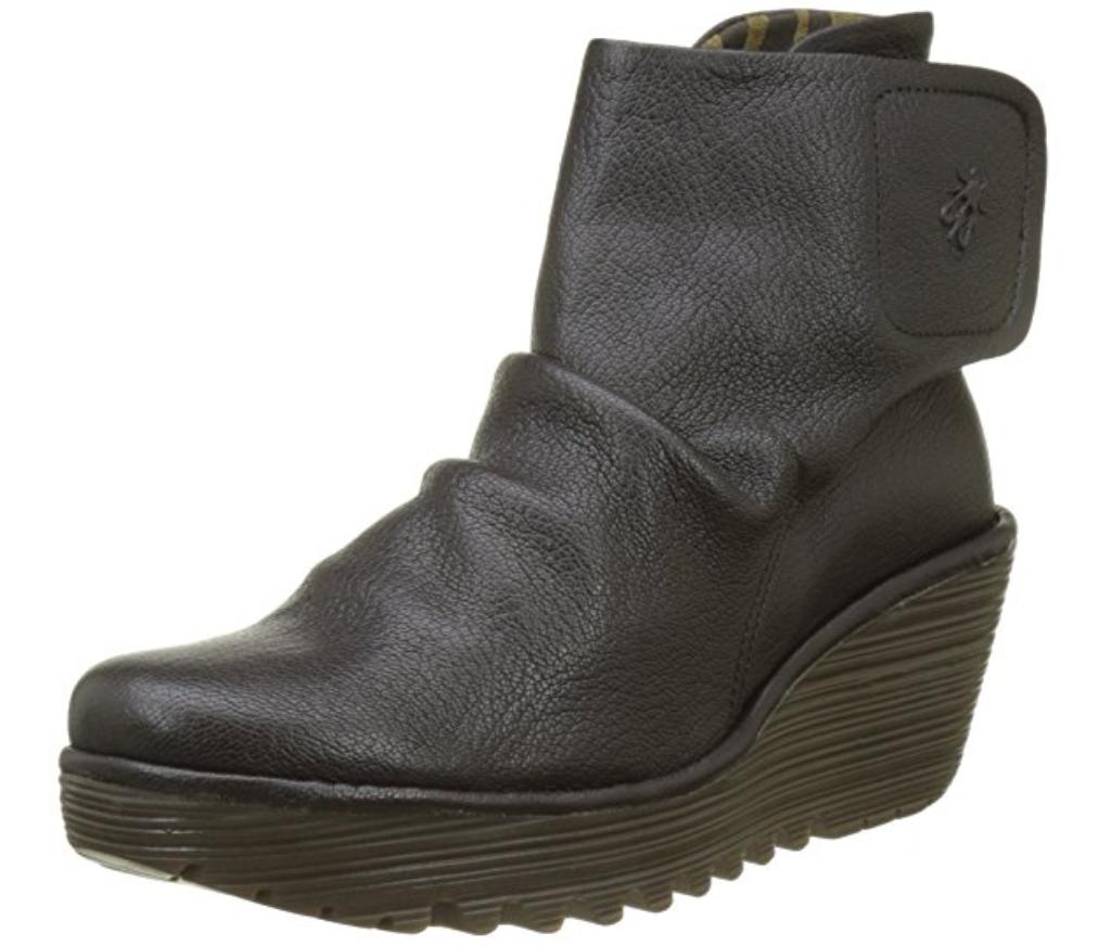 FLY London YOMI Leder Ankle Stiefel Größe  Yomi765Fly CHOCOLATE Braun Größe Stiefel US 10 EU 41 f24da5