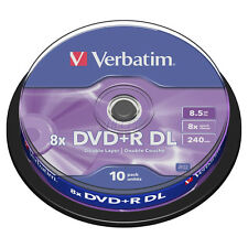 10-Pack Verbatim DVD+R DL MKM-003 → Xbox 360 IhAS124b Dual / Double Layer [XGD3]