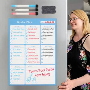 Magnetischer-Wochenplaner-Einkaufsliste-Kuehlschrank-Schreibttafel-Magnettafel