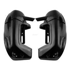 Black Lower Vented Leg Fairings Glove Box For Harley Touring Road King 98-09