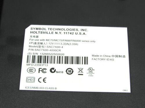 Motorola Symbol Battery Charger Cradle for MC70//MC75 Scanner SAC7X00-4000CR