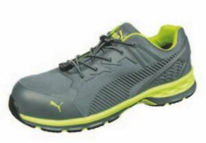 Puma-Safety-643885-FUSE-MOTION-LOW-SD-Men-039-s-Green-Grey-Safety-Work-Shoes