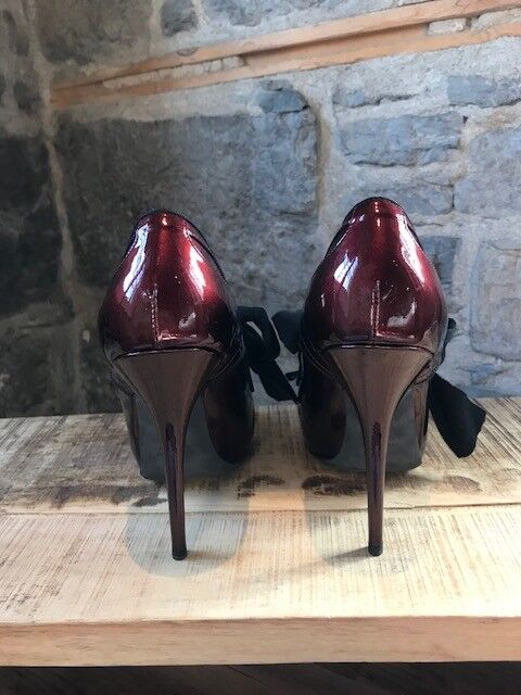 Lanvin Burgundy Lace-Up Pumps - Taille 39.5 IT - - - 9.5 US 8cc0a2