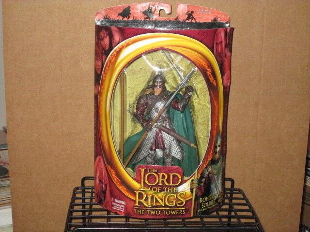 2002 LORD RINGS TWO TOWERS ROHIRRIM SOLDIER 1st SERIES FIGURE MIP