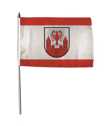 Stockflagge Fahne Flagge Cottbus 30 x 45 cm