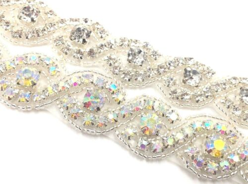 1 Yard Beautiful Bridal Rhinestone Belt Bridal Lace For Wedding Dresses Trim