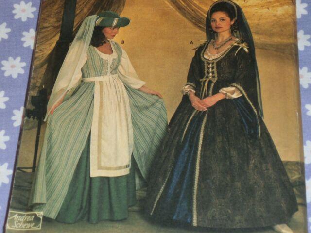Simplicity 7756 Sewing Pattern Elizabethan Renaissance Medieval ...