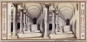 Napoli Italia Foto Sommer Behles Stereo Vintage Albumina Ca