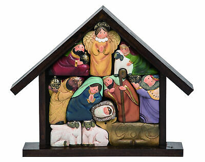 Small Nativity Scenes Whimsical Painted Resin Holy Family Figurine 2 Inches