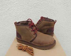 fabbc7d2fc3 Details about UGG NEUMEL II GRIZZLY WATERPROOF LEATHER ANKLE BOOTS, YOUTH  US 4/ EUR 34 ~NIB