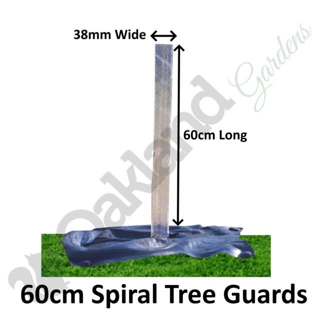 Rainbow 60cm Spiral Brown Plastic Tree Guards Protectors x 10