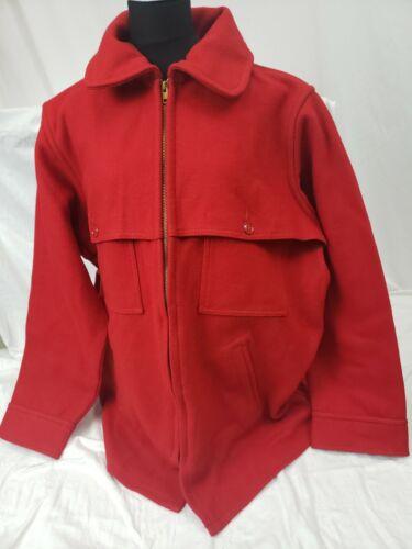 Vintage USA Johnson Woolen Mills MENS RED Wool COA