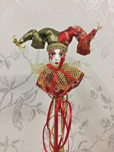 $por persona Gras Jester Ornamento En Palo ~ Masquerade Decorado de fiesta ~ 12 Estilos 14460