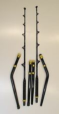PAIR OF MATCHING NEW STRAIGHT AND BENT BUTT TROLLING ROD BIG GAME ROD 80-130LB