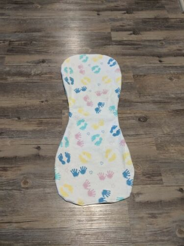 Baby Hands /& Feet Flannel Burp Cloths Contoured Soft Double Layer Handmade