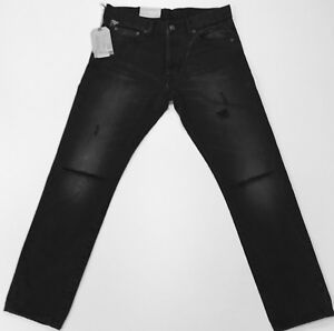 3f871523 Details about Genuine Ralph Lauren men's slim fit denim and supply ripped  gibson jeans