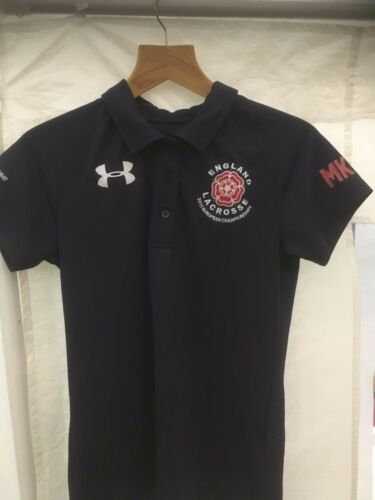 Under Armour England Lacrosse Women/'s Polo shirt plain some with initials NEW