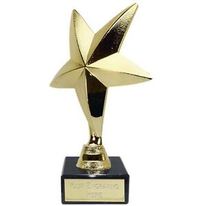 Star Of The Week Trophy Gold Multi